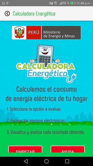 Calculador energético – Web y Móvil