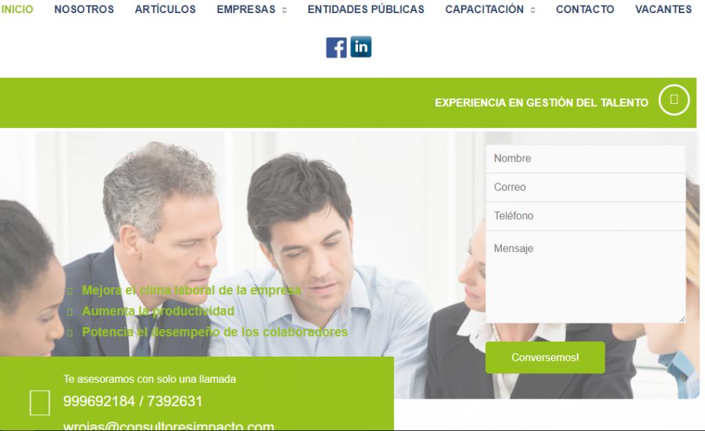 Web Impacto Consultores (Recursos Humanos)