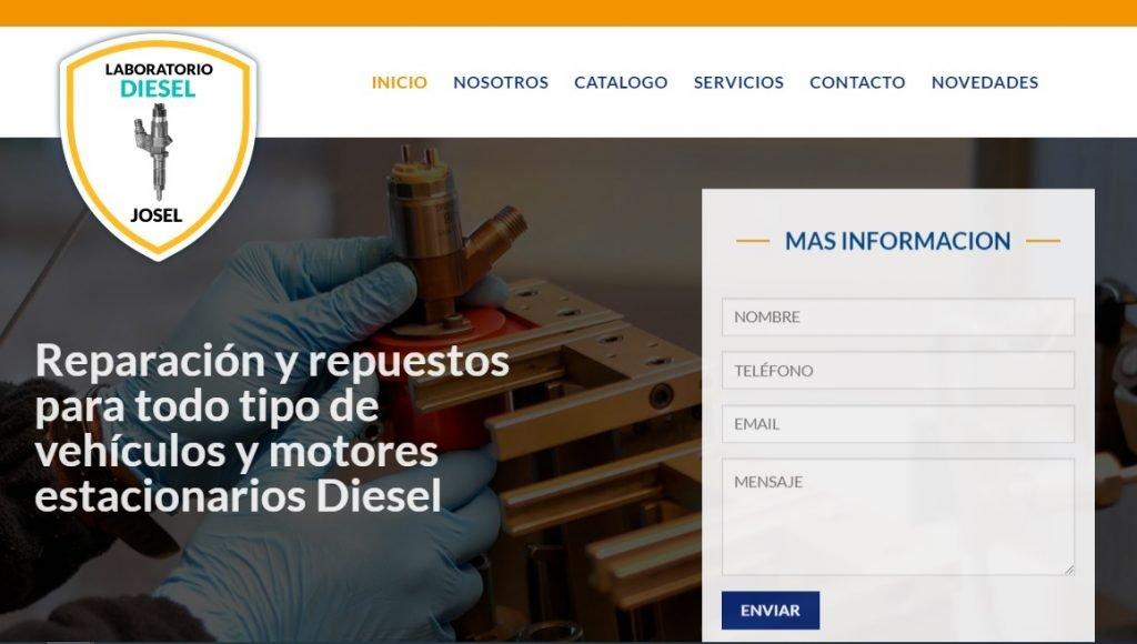 Web de Laboratorio de Inyectores Diesel